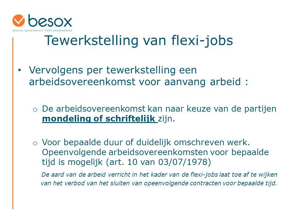 Tewerkstelling van flexi-jobs