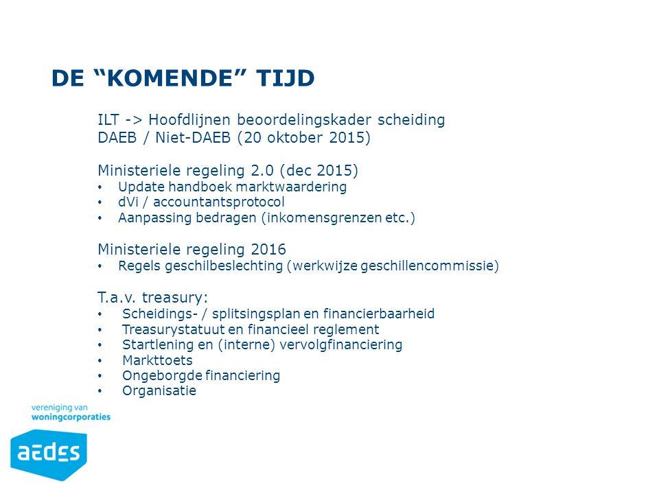 De komende tijd ILT -> Hoofdlijnen beoordelingskader scheiding
