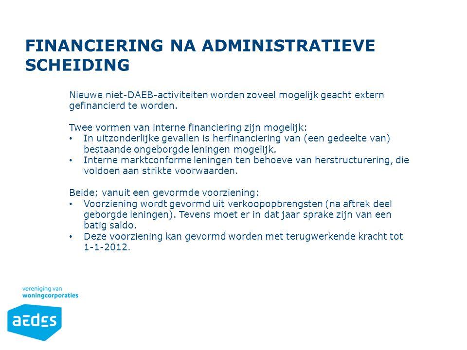 Financiering na administratieve scheiding