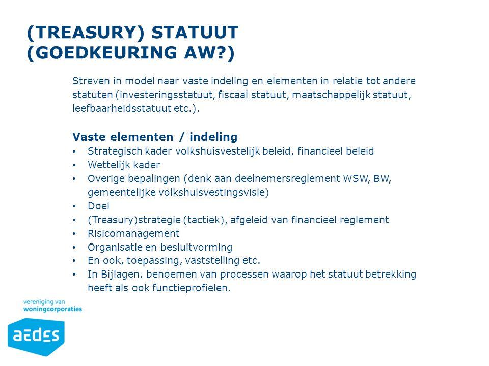 (Treasury) statuut (Goedkeuring Aw )
