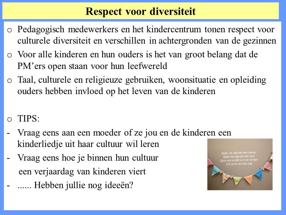 Respect voor diversiteit