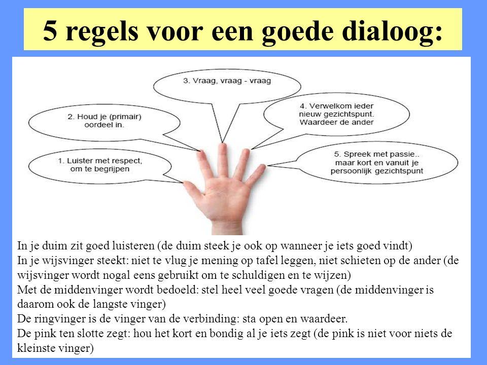 5 regels voor een goede dialoog: