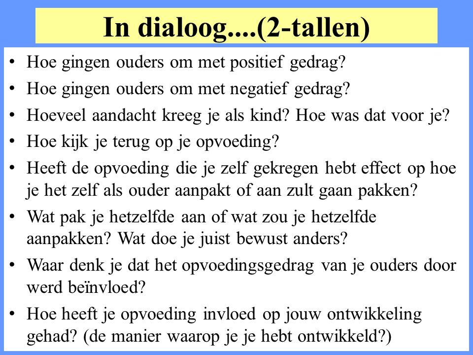 In dialoog....(2-tallen) Hoe gingen ouders om met positief gedrag