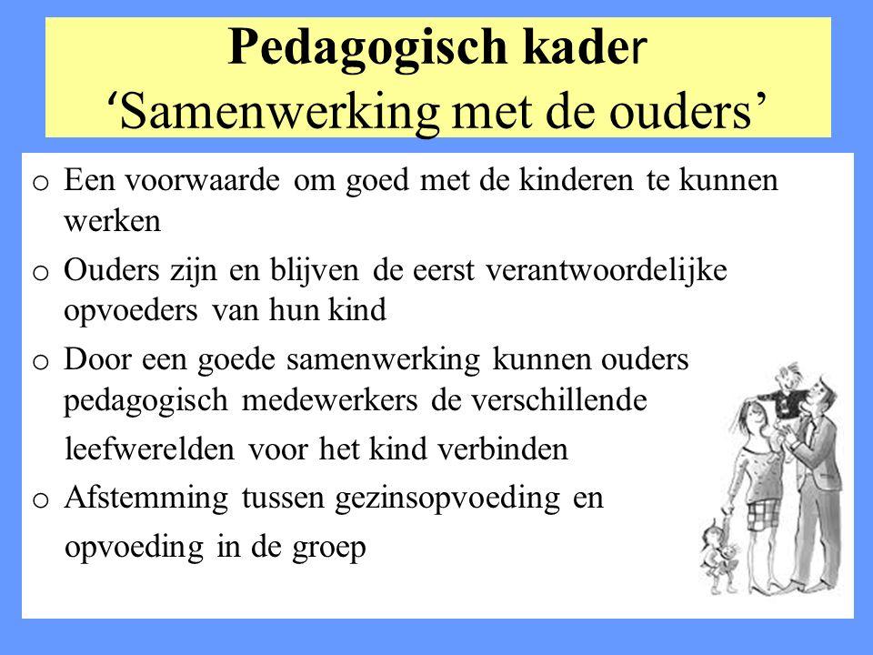 Pedagogisch kader 'Samenwerking met de ouders'