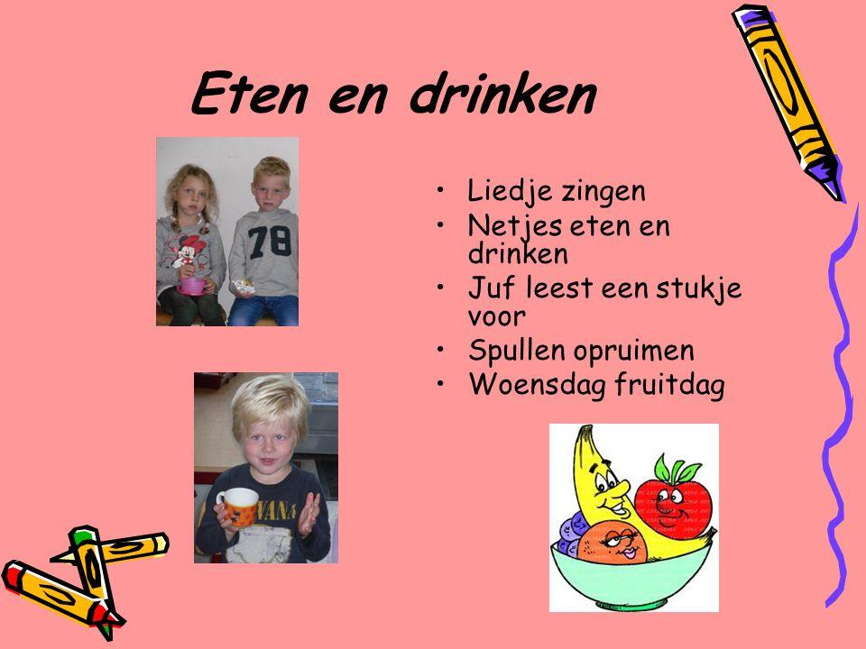 Eten en drinken Liedje zingen Netjes eten en drinken