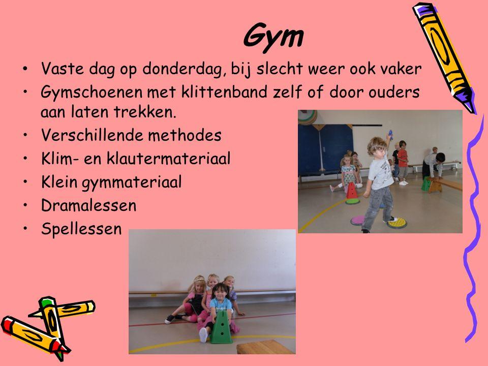 Gym Vaste dag op donderdag, bij slecht weer ook vaker