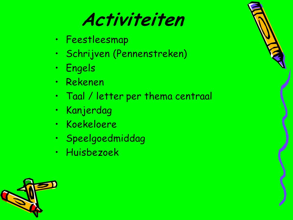 Activiteiten Feestleesmap Schrijven (Pennenstreken) Engels Rekenen