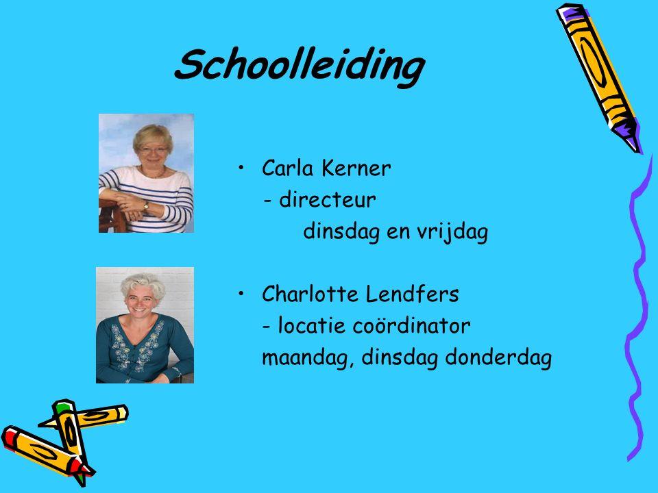 Schoolleiding Carla Kerner - directeur dinsdag en vrijdag
