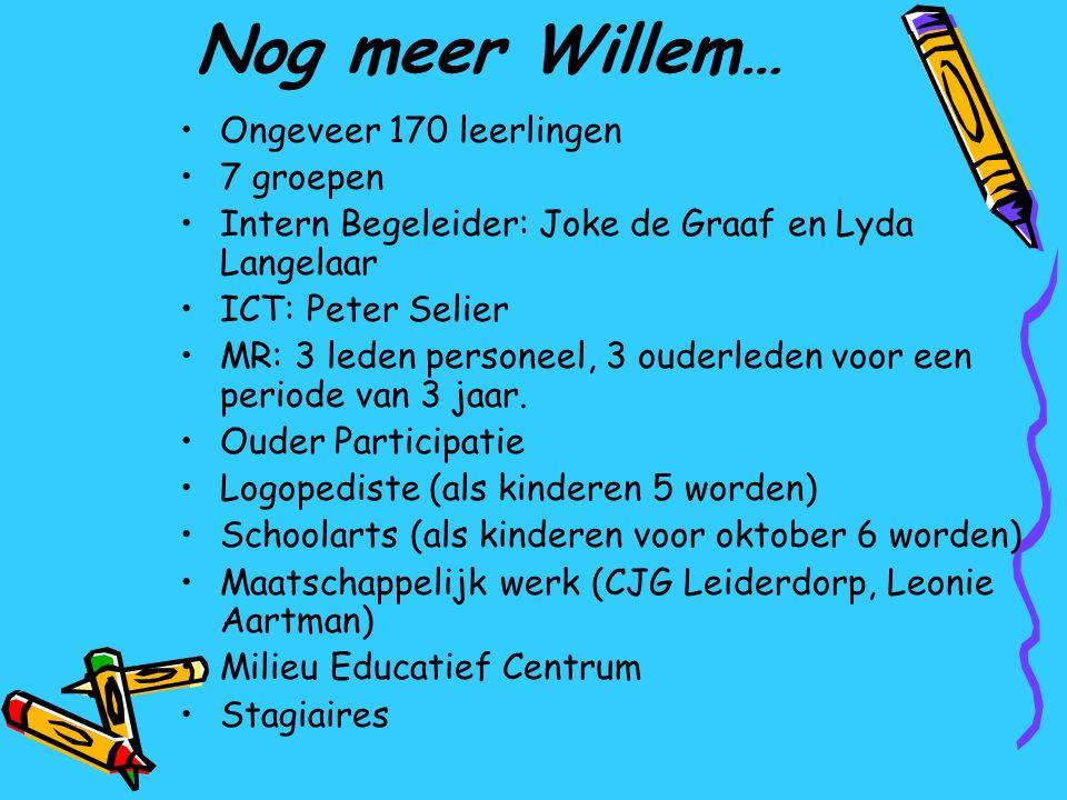 Nog meer Willem… Ongeveer 170 leerlingen 7 groepen