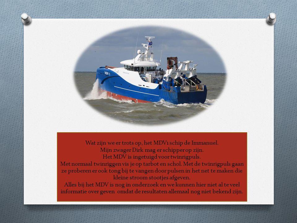 Wat zijn we er trots op, het MDV1 schip de Immanuel.