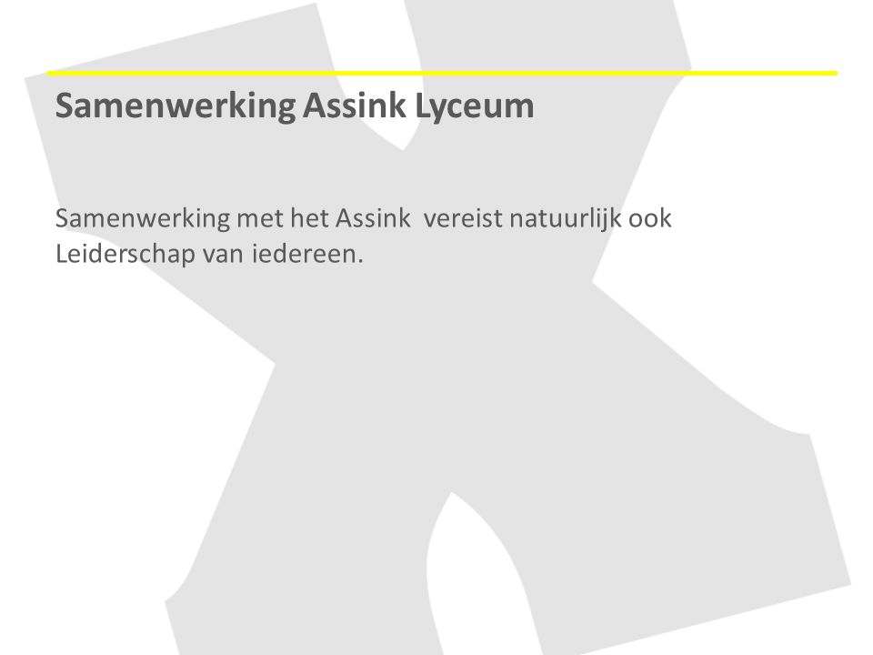 Samenwerking Assink Lyceum