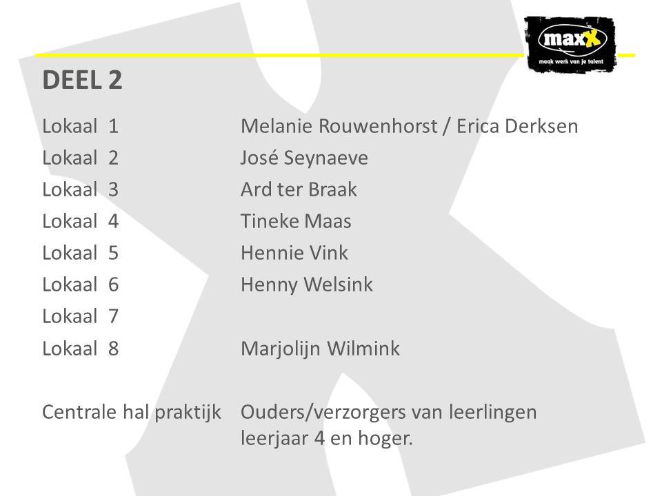 DEEL 2 Lokaal 1 Melanie Rouwenhorst / Erica Derksen