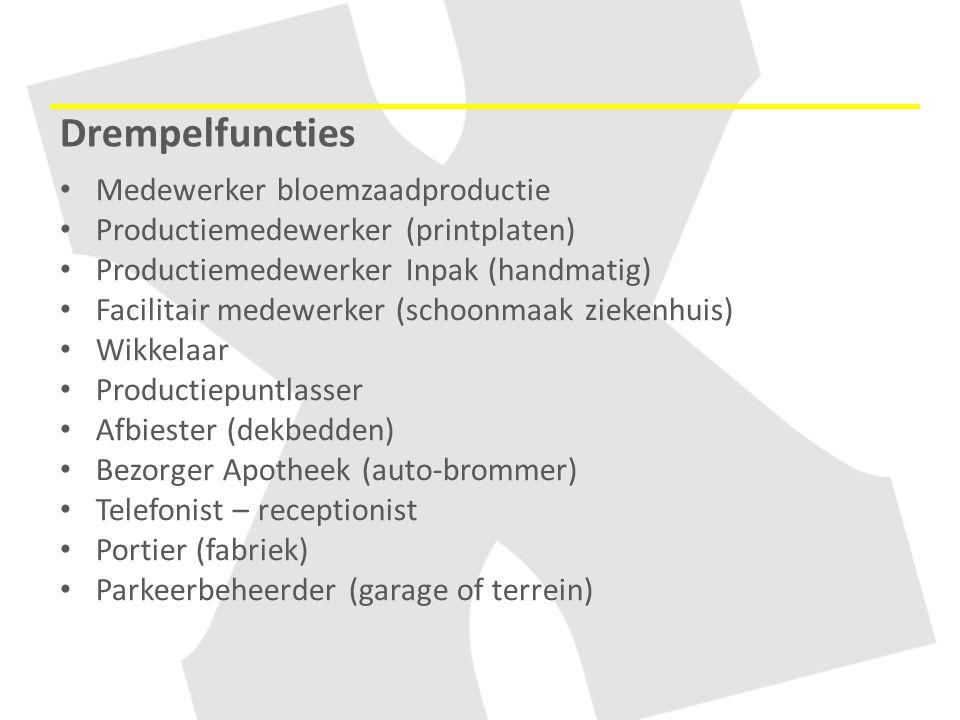 Drempelfuncties Medewerker bloemzaadproductie