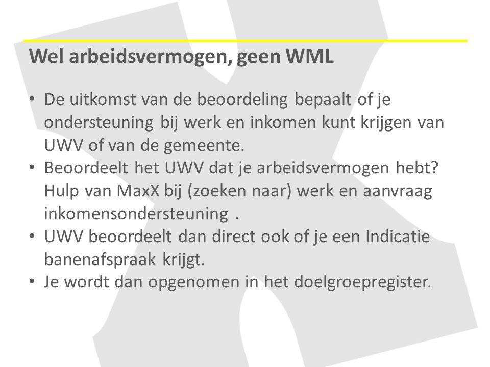 Wel arbeidsvermogen, geen WML