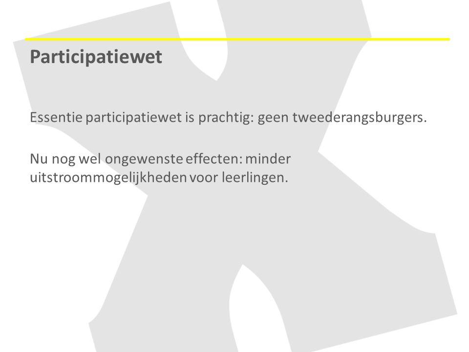 Participatiewet Essentie participatiewet is prachtig: geen tweederangsburgers.