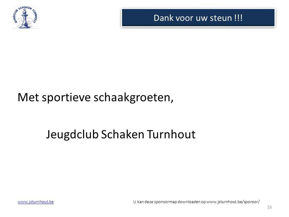 Met sportieve schaakgroeten, Jeugdclub Schaken Turnhout