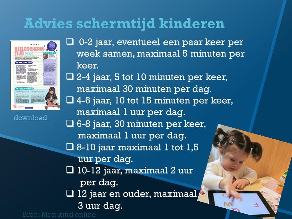 Advies schermtijd kinderen