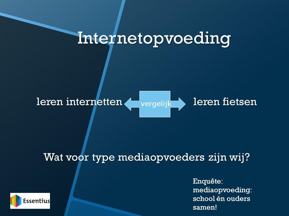 Internetopvoeding leren internetten leren fietsen