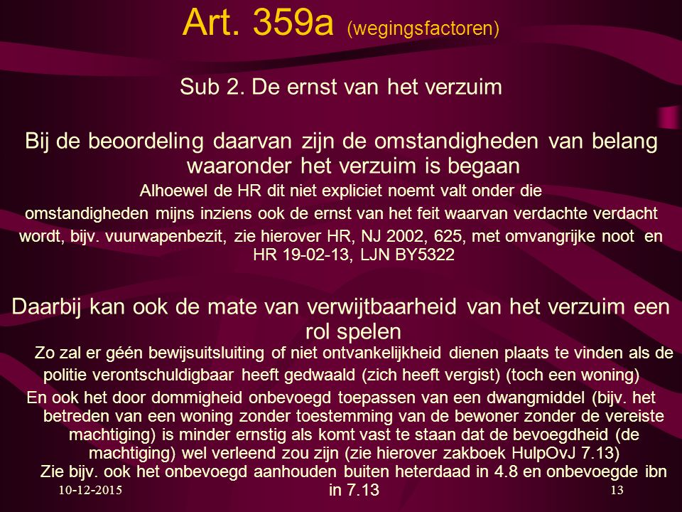Art. 359a (wegingsfactoren)