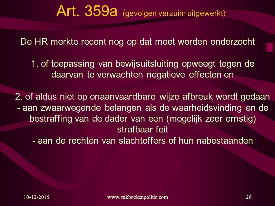Art. 359a (gevolgen verzuim uitgewerkt)