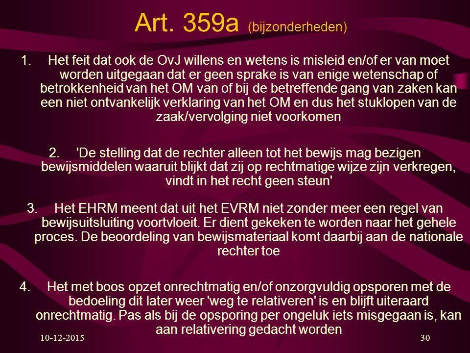 Art. 359a (bijzonderheden)