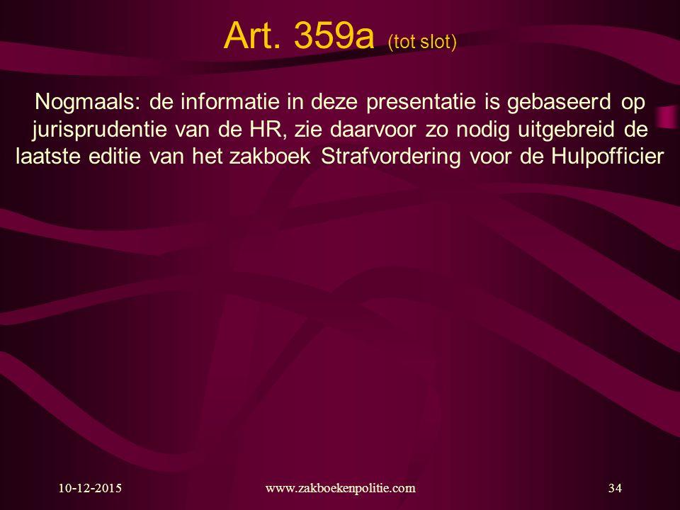 Art. 359a (tot slot)