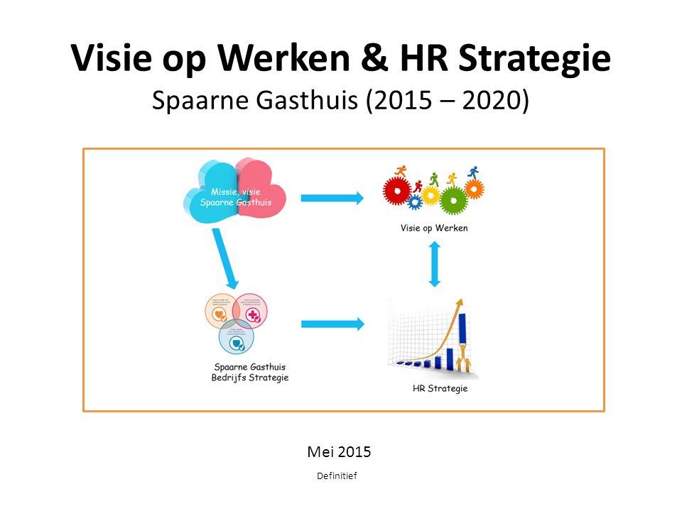 Visie op Werken & HR Strategie Spaarne Gasthuis (2015 – 2020)