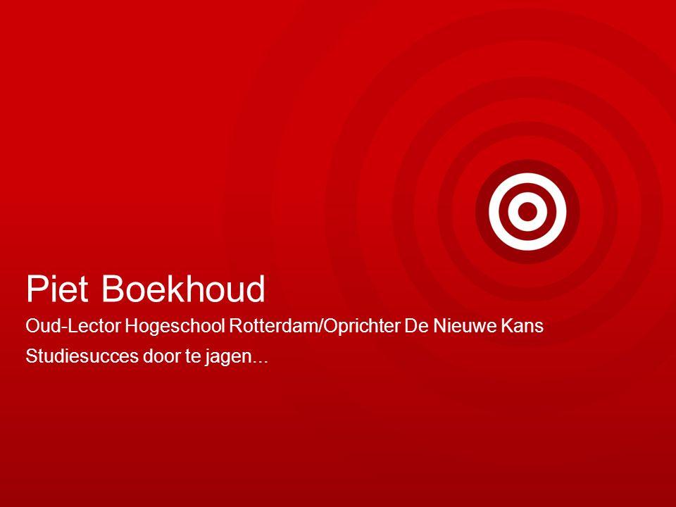 Piet Boekhoud Oud-Lector Hogeschool Rotterdam/Oprichter De Nieuwe Kans