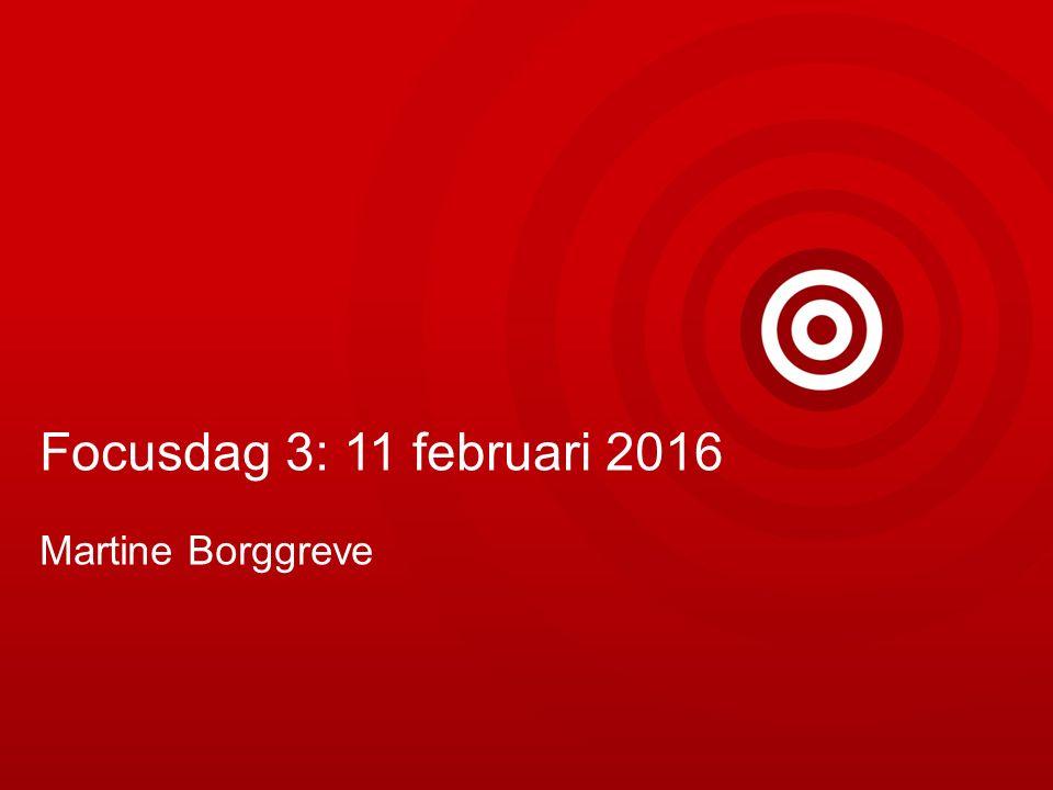 Focusdag 3: 11 februari 2016 Martine Borggreve