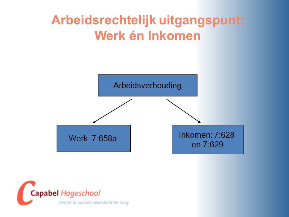 Arbeidsrechtelijk uitgangspunt: Werk én Inkomen
