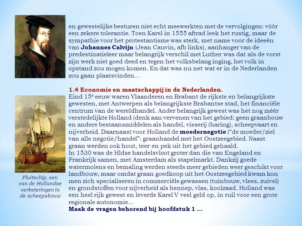 1.4 Economie en maatschappij in de Nederlanden.