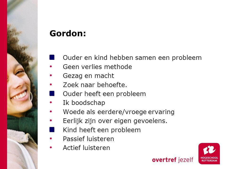 Gordon: Ouder en kind hebben samen een probleem Geen verlies methode