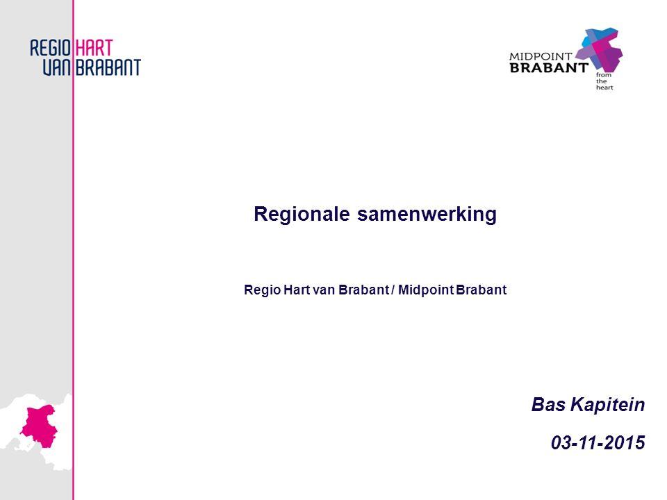 Regionale samenwerking Regio Hart van Brabant / Midpoint Brabant
