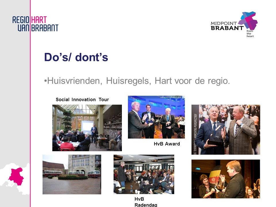 Do's/ dont's Huisvrienden, Huisregels, Hart voor de regio.