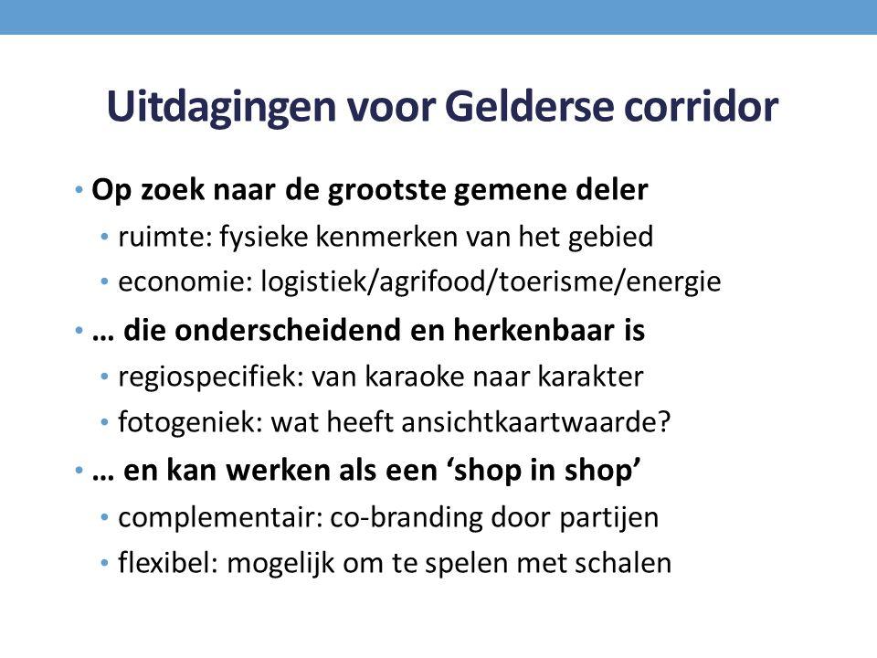 Uitdagingen voor Gelderse corridor