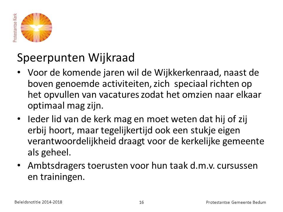 Speerpunten Wijkraad