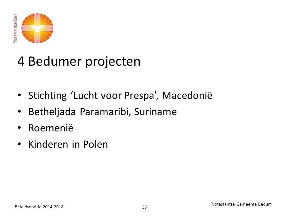 4 Bedumer projecten Stichting 'Lucht voor Prespa', Macedonië