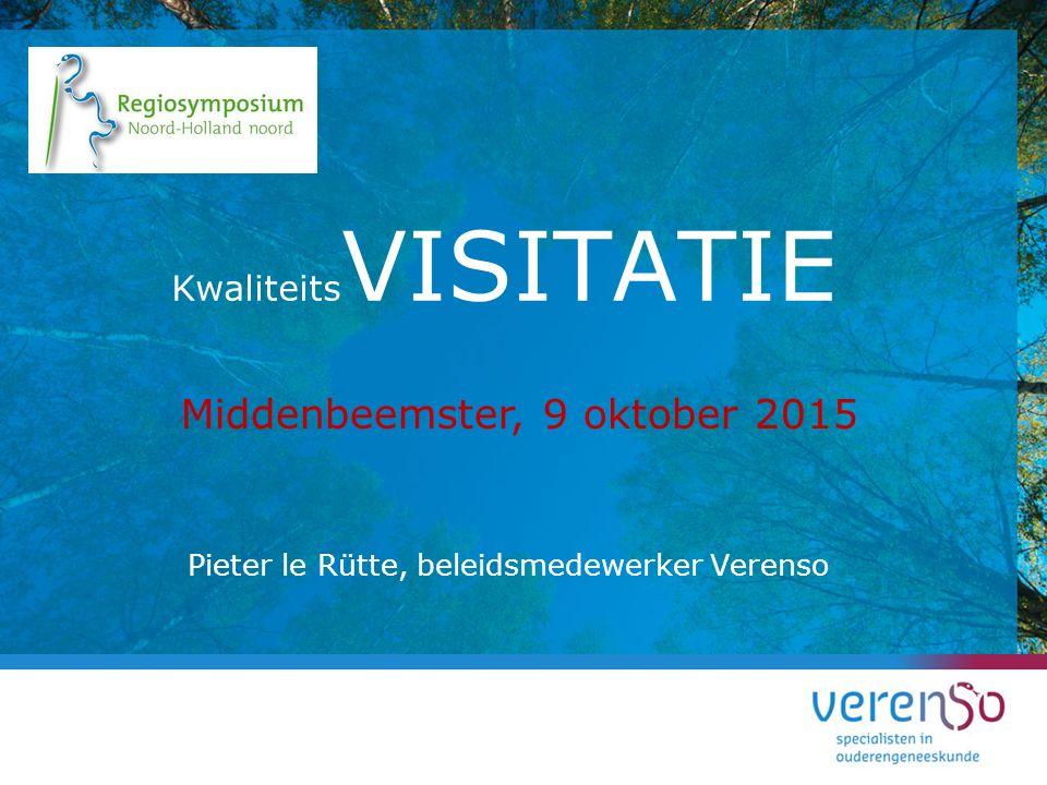 Pieter le Rütte, beleidsmedewerker Verenso