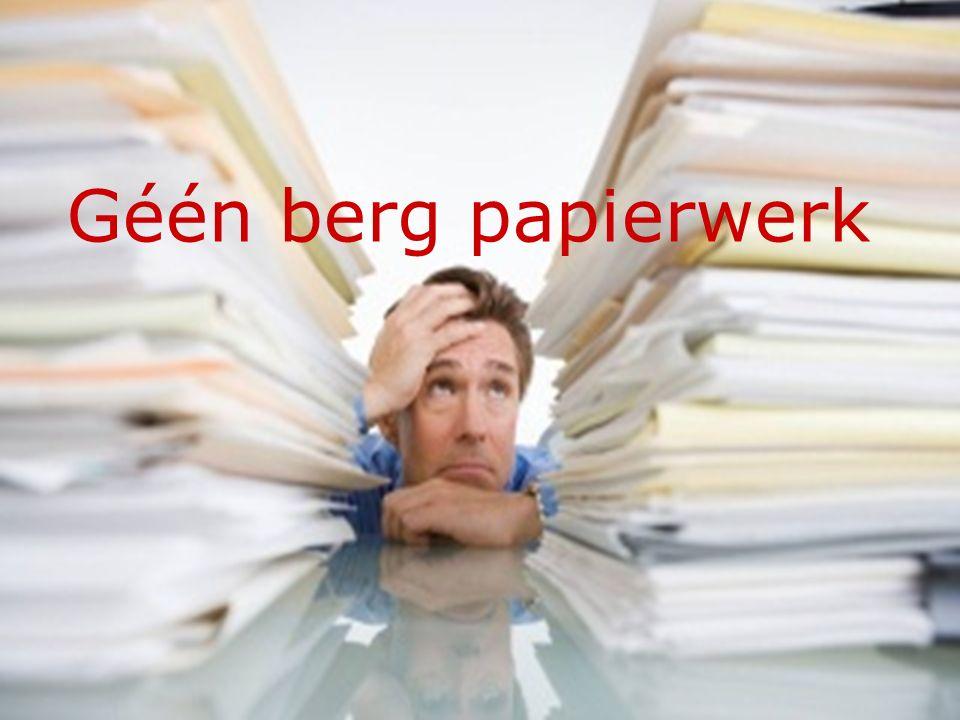 Géén berg papierwerk