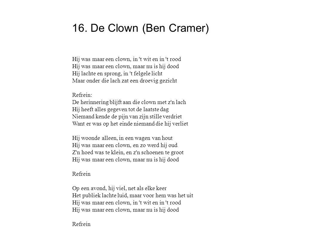 16. De Clown (Ben Cramer)