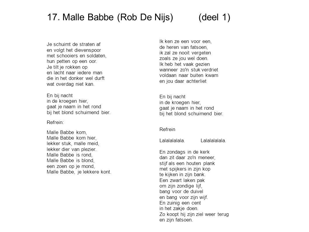 17. Malle Babbe (Rob De Nijs) (deel 1)