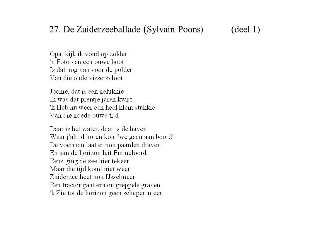 27. De Zuiderzeeballade (Sylvain Poons) (deel 1)