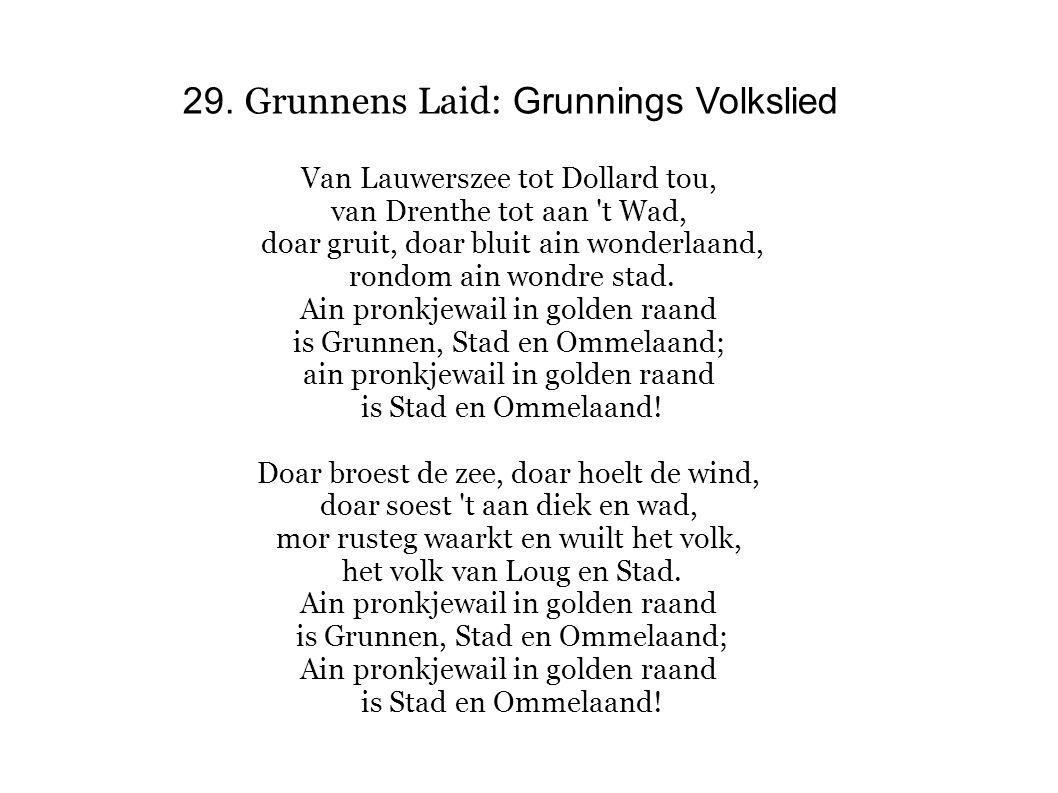 29. Grunnens Laid: Grunnings Volkslied