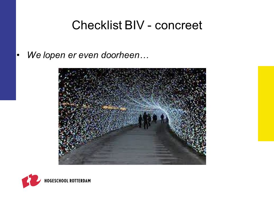 Checklist BIV - concreet