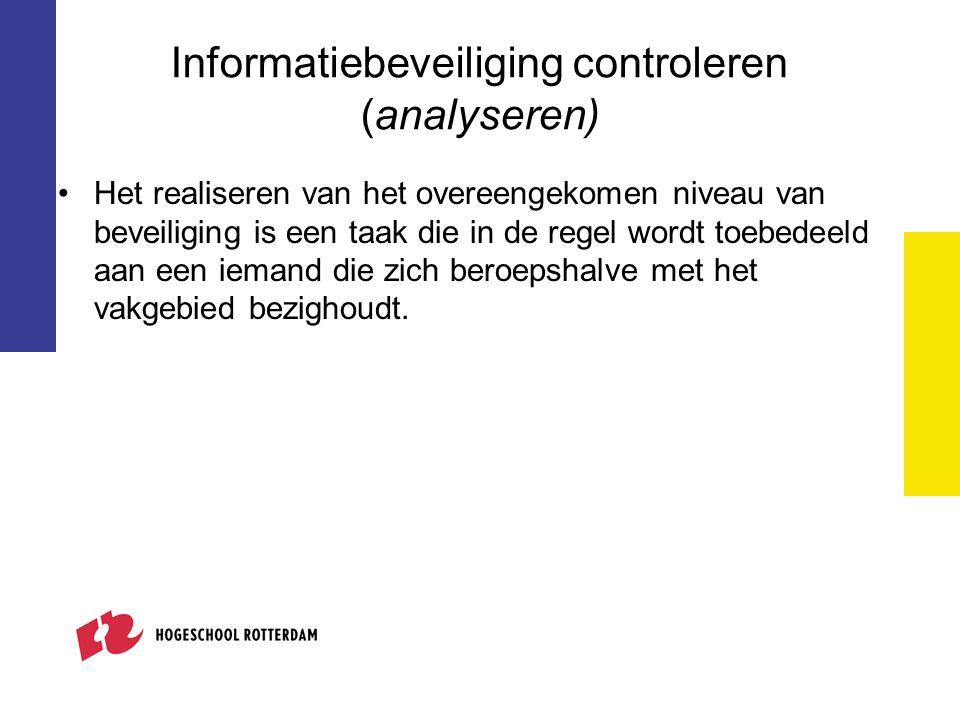 Informatiebeveiliging controleren (analyseren)