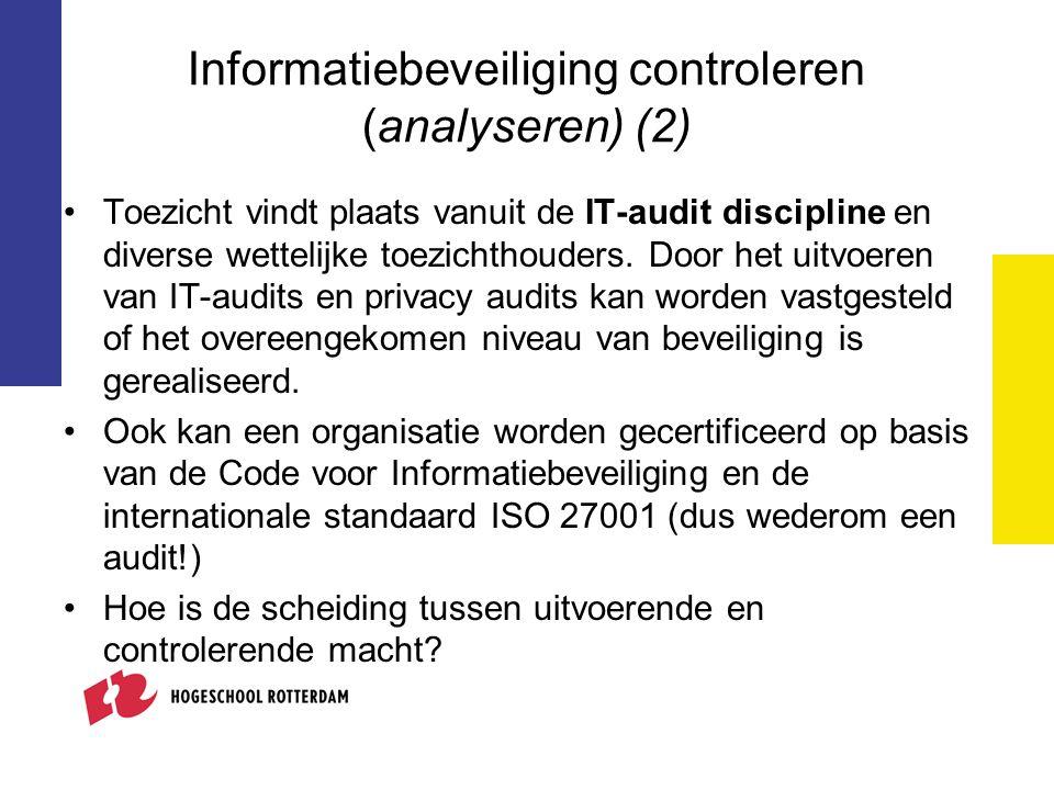 Informatiebeveiliging controleren (analyseren) (2)