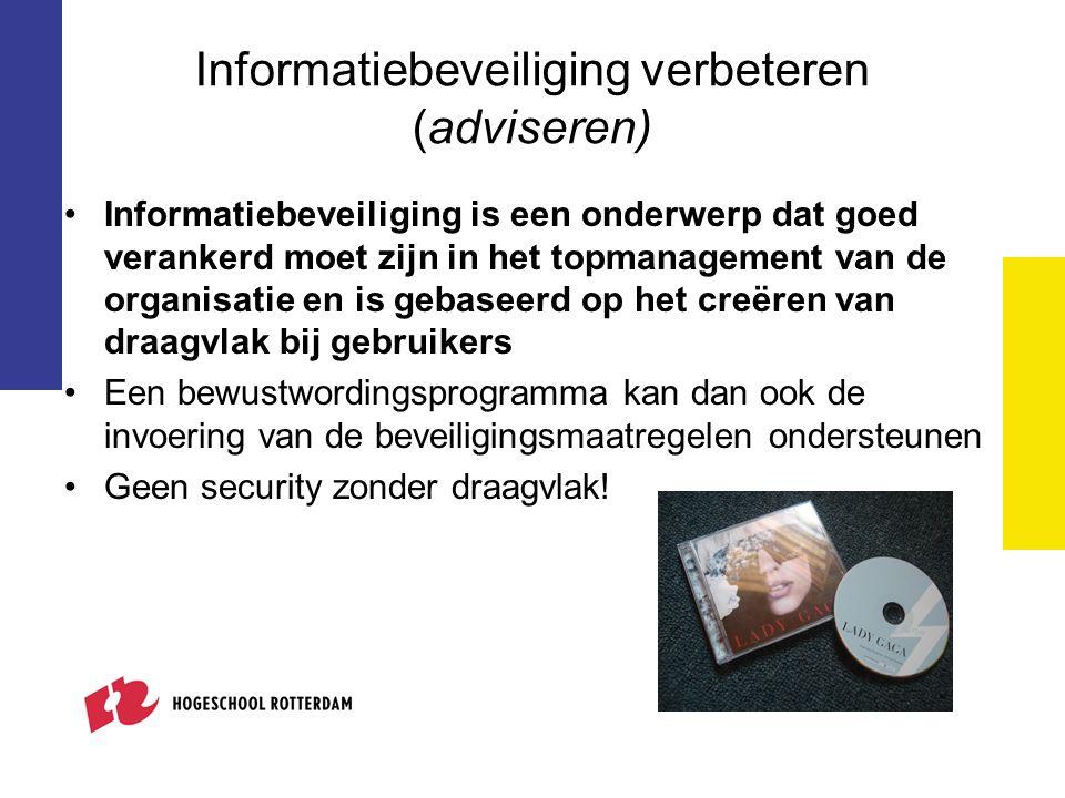 Informatiebeveiliging verbeteren (adviseren)
