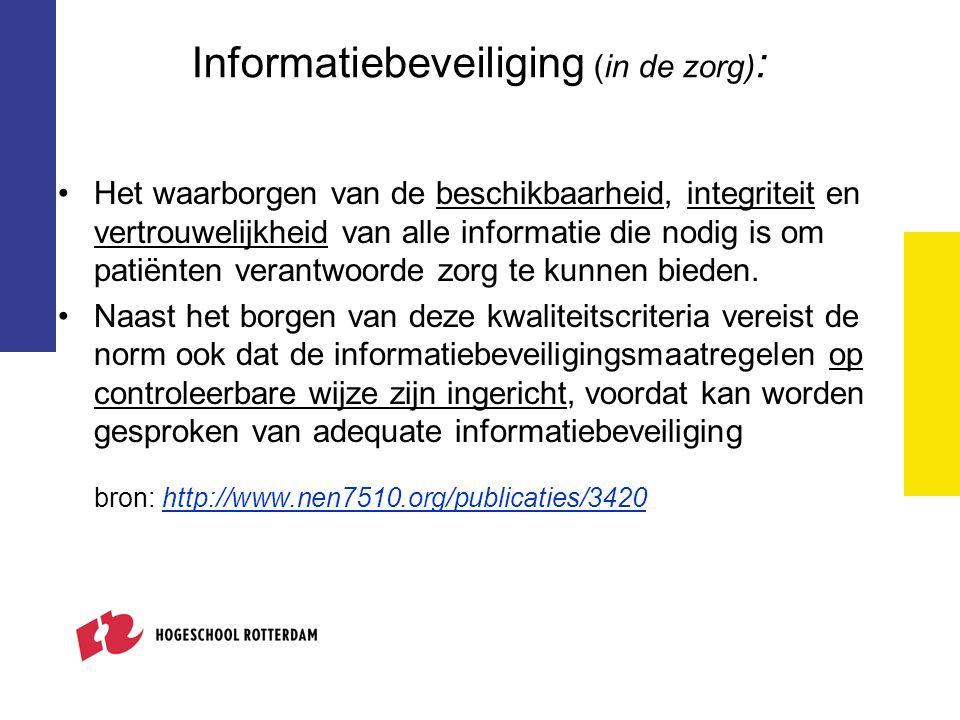 Informatiebeveiliging (in de zorg):
