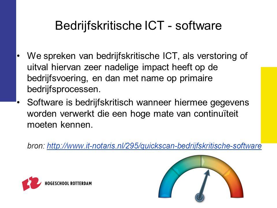 Bedrijfskritische ICT - software