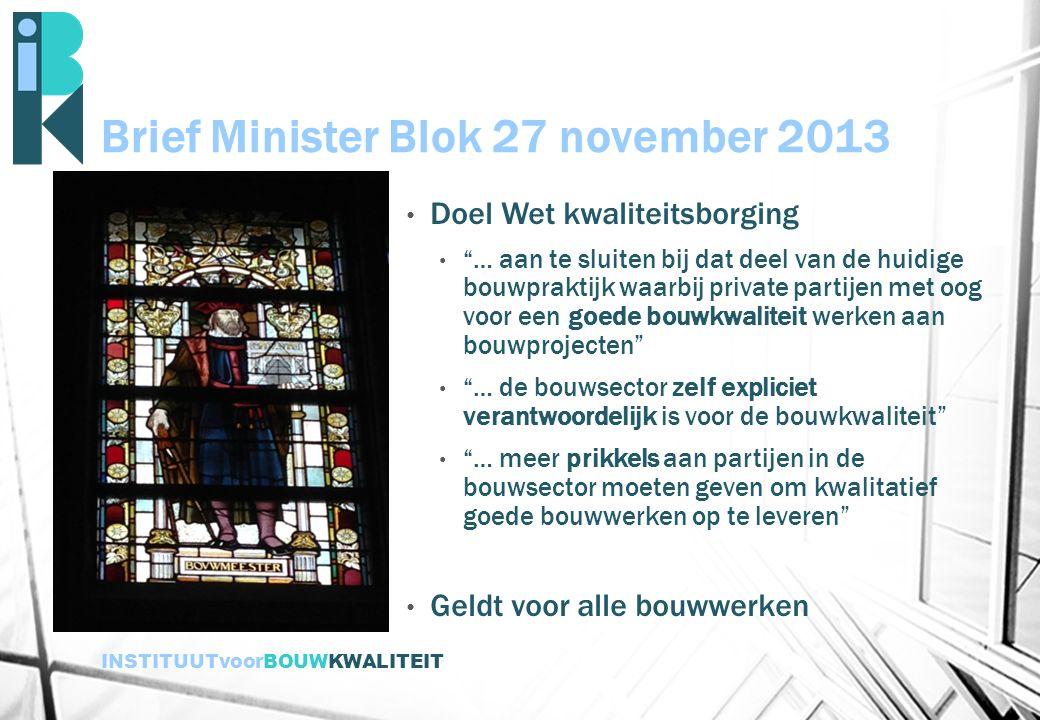 Brief Minister Blok 27 november 2013